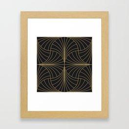 Diamond Series Inter Wave Gold on Charcoal Framed Art Print