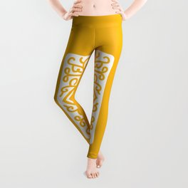 """Custard Cream"" Biscuit poster Leggings"
