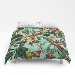 FLORAL AND BIRDS XIII Comforters