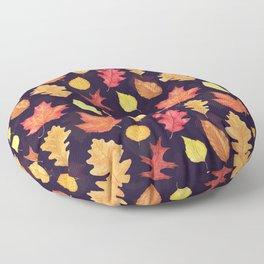 Autumn Leaves - dark plum Floor Pillow