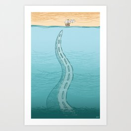 Creature of the Deep Art Print