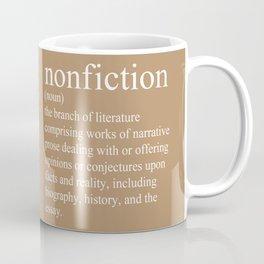 Nonfiction Definition Coffee Mug