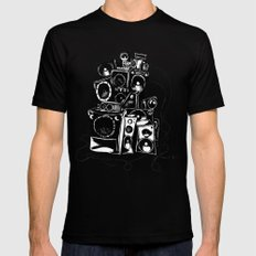 boombox Mens Fitted Tee MEDIUM Black