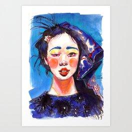 Fashion - Blue Spring Art Print
