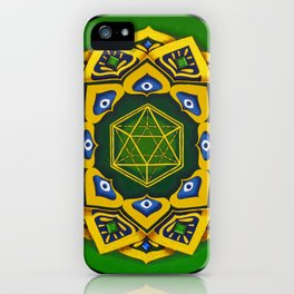 """Sacred geometry"" Green mandala by Ilse Quezada iPhone Case"