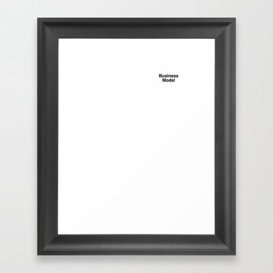 Business Model Framed Art Print