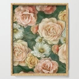 Floral rose pattern Serving Tray