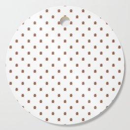 Lucky Ladybug Watercolor Print Pattern Cutting Board
