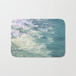 Sea Painting Maravellous Effect with brushes Bath Mat