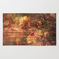 lyrics Area & Throw Rugs featuring Postcard with lyrics by Lord Byron by DS' photoart