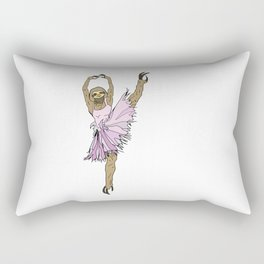 Sloth Ballerina Tutu Rectangular Pillow