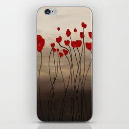 Fleurs en Rouge iPhone Skin