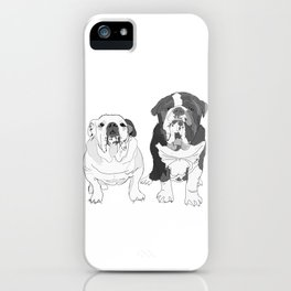 English Bulldog Brothers iPhone Case