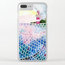 Sea at sunset Clear iPhone Case