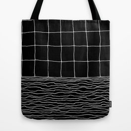 Hand Drawn Grid Tote Bag