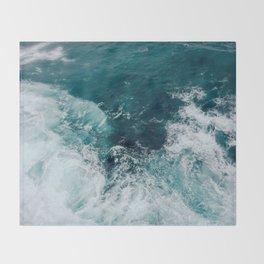 Ocean Waves (Teal) Throw Blanket