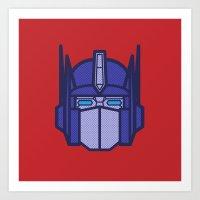 optimus prime Art Prints featuring Optimus Prime by M. Gulin