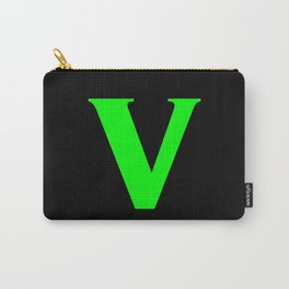 v (LIME & BLACK LETTERS) Carry-All Pouch