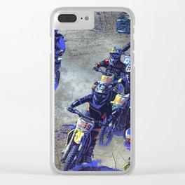 Lets Race!  - Motocross Racers Clear iPhone Case