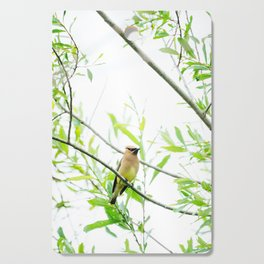 Cedar Waxwing Cutting Board