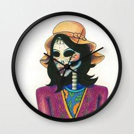 Dia de los Muertos - La Niña Fresa Wall Clock