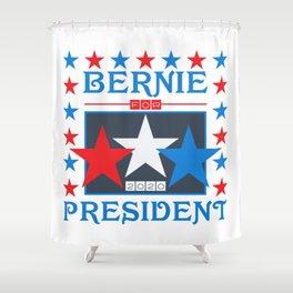 Bernie for President 2020 Stars Shower Curtain
