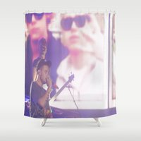 liam payne Shower Curtains featuring Liam Payne by Halle