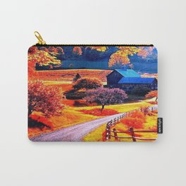 Farmhouse In Autumn Carry-All Pouch