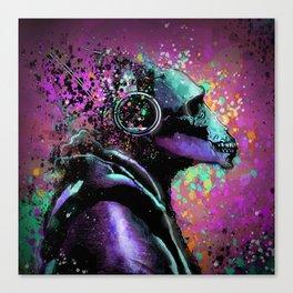 Splatter Ape Canvas Print