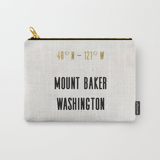 Mount Baker Washington Location Map Print Carry-All Pouch