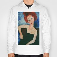 redhead Hoodies featuring Redhead by Sandra Dimitrijevic