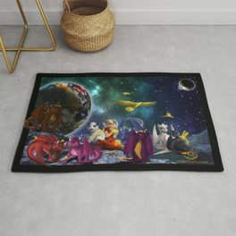 Dragonlings Space Party Rug