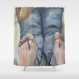 Boko maru painting Shower Curtain