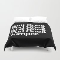 knitting Duvet Covers featuring Knitting by Outside In