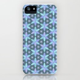 Star Flowers in cool colors iPhone Case