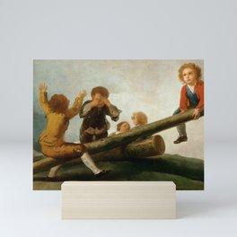 "Francisco Goya ""El Balancín (The seesaw)"" Mini Art Print"
