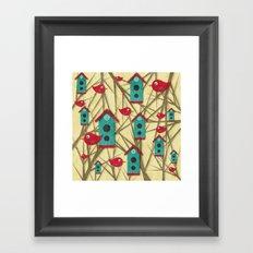 Shabby Sweet Tweet Framed Art Print