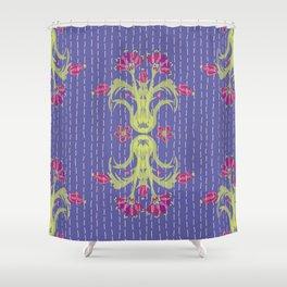 Kantha Bouquet 6 Shower Curtain