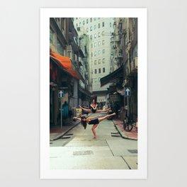 Dancers Parallel Jump Art Print
