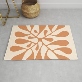 Matisse Inspired Abstract Cut Out orange Rug