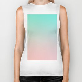 HEAVY RAINS - Minimal Plain Soft Mood Color Blend Prints Biker Tank