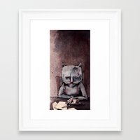 hemingway Framed Art Prints featuring Hemingway cat by Jonathan Silence