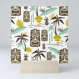 Island Tiki - White Mini Art Print