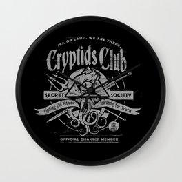 Cryptids Club Wall Clock