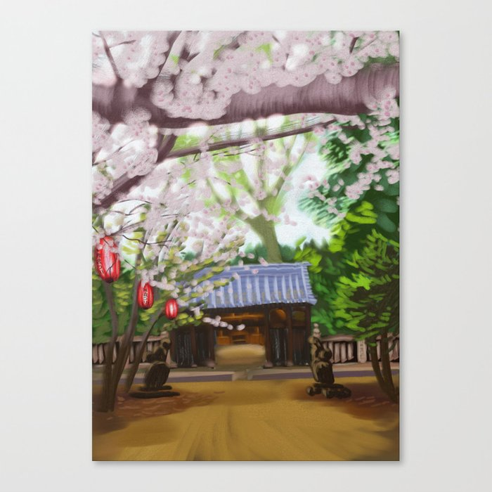 Cherry trees in Japan Canvas Print