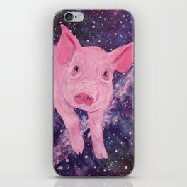 Pig in a Space Blanket iPhone Skin