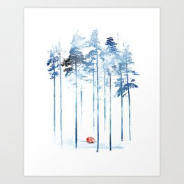 Sleeping in the woods Art Print