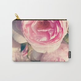 Shabby Chic Flowers, Ranunculus Roses, Spring, Romantic Floral Decor Carry-All Pouch