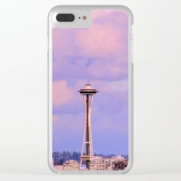 Seattle Space_Needle Clear iPhone Case