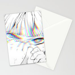 Sad anime aesthetic - daddy issues Stationery Cards